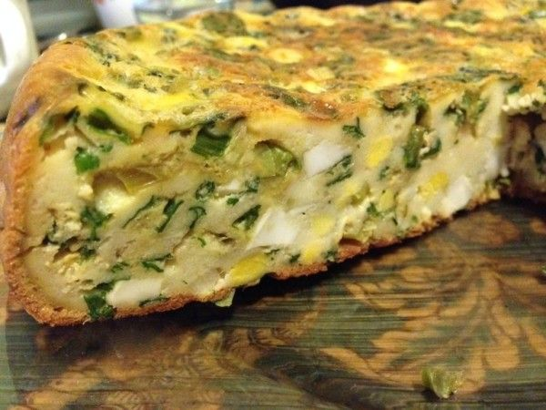 Пирог с зеленым луком и яйцом в мультиварке рецепты с