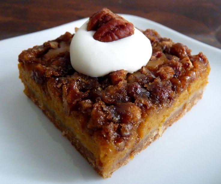 Pumpkin Pie Pecan Squares | Brownies & Bars | Pinterest