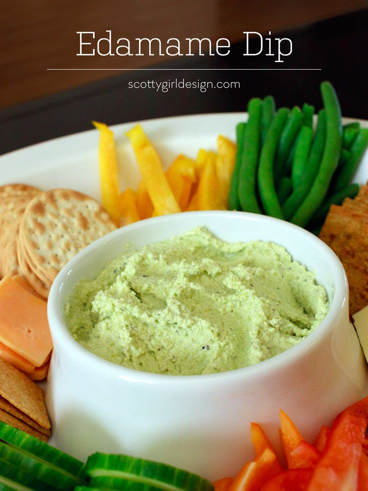 Edamame Dip Recipe by Scotty Girl Design | Nom Nom Nom | Pinterest