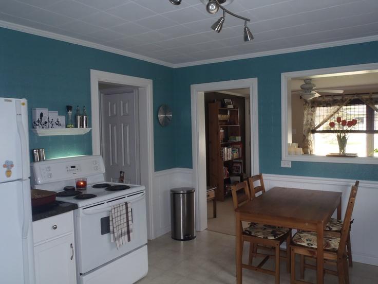 teal kitchen  after  House  Pinterest
