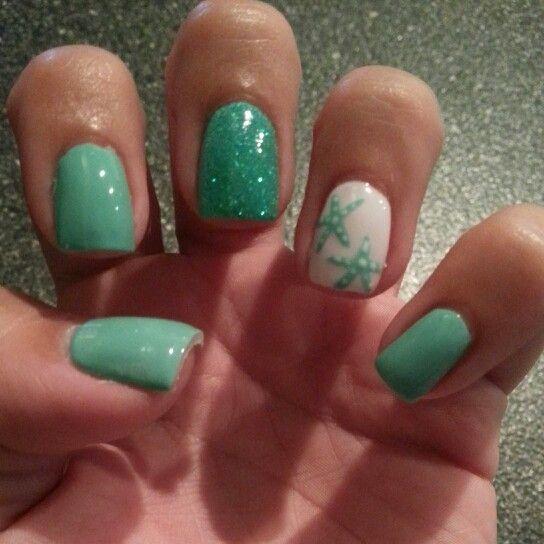 Starfish Nail Designs Starfish nails - great change!
