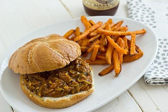 ... barbecue bite: this Bourbon Mango Pulled Summer Squash Sandwich