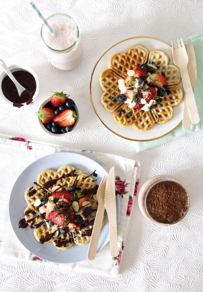 BLUEBERRY HAZELNUT WAFFLES | Slammin' Pancake Recipes | Pinterest