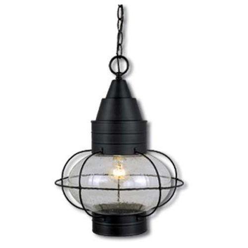 Vaxcel 1 Light Nautical Outdoor Pendant Lighting Fixture Black Seed