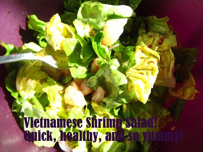 Vietnamese Shrimp Salad. Packed full of flavor, easy, and healthy!