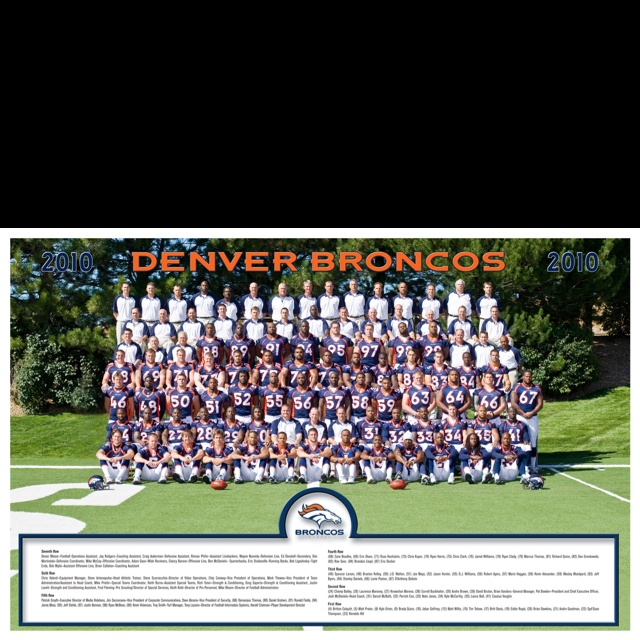 Denver Broncos Team Picture