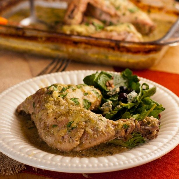 Creamy Chicken Verde Bake (chicken with salsa verde + coconut milk ...