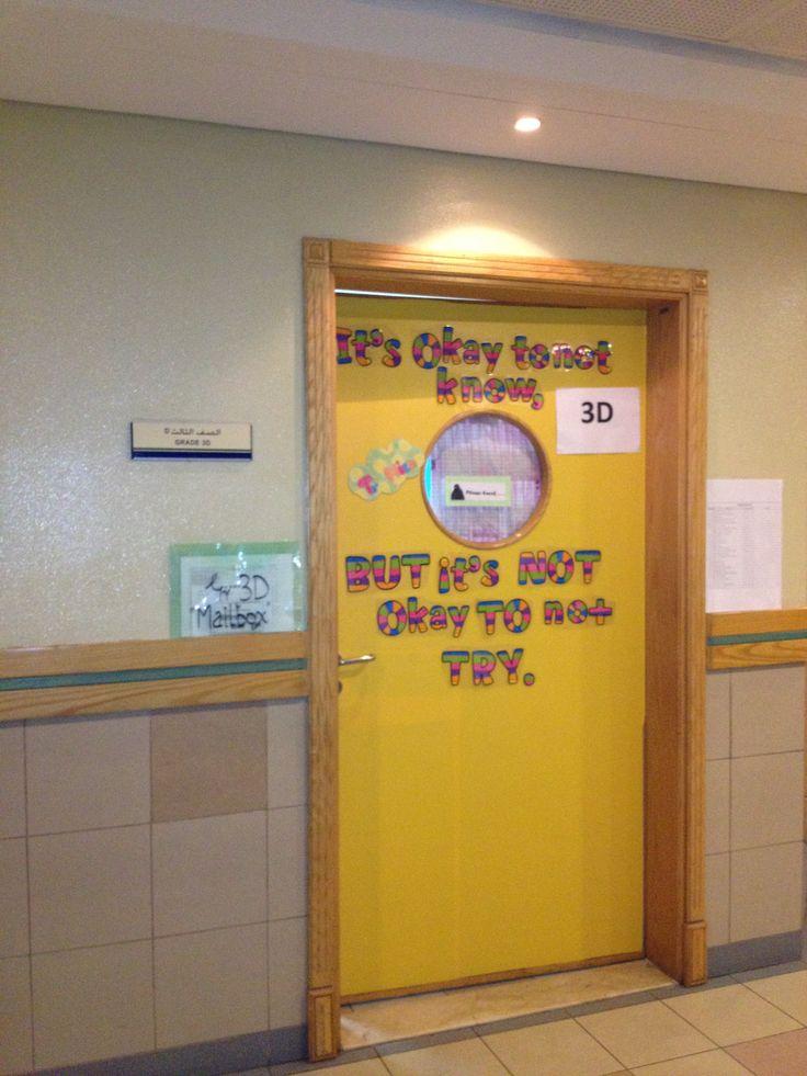 Classroom door quote classroom pinterest for Door quotation