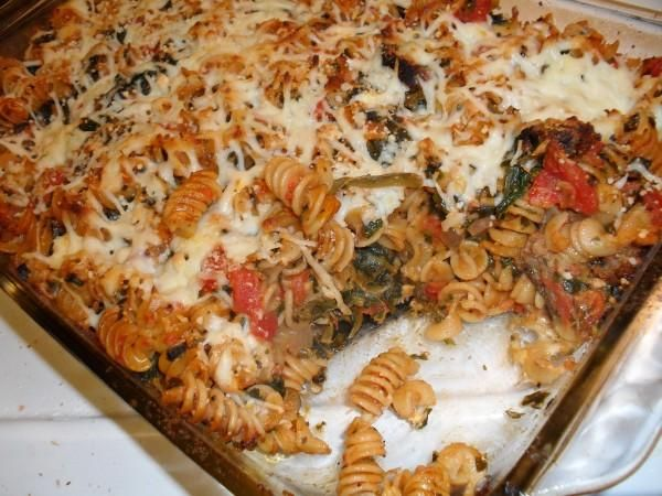 baked pasta with spinach and sausage | Yummy in my Tummy (Main) | Pin ...