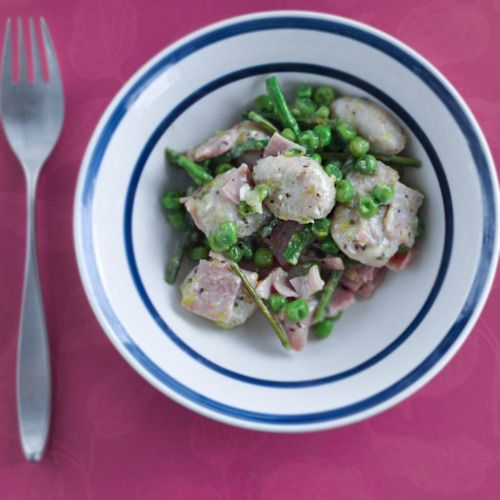 Chicken With Spring Vegetables And Gnocchi Recipe — Dishmaps