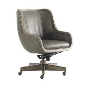 gray leather desk chair office pinterest