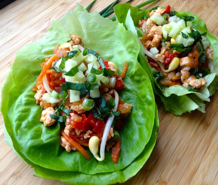 Thai Chicken Lettuce Wraps. Light, spicy, and packed with nutrients ...