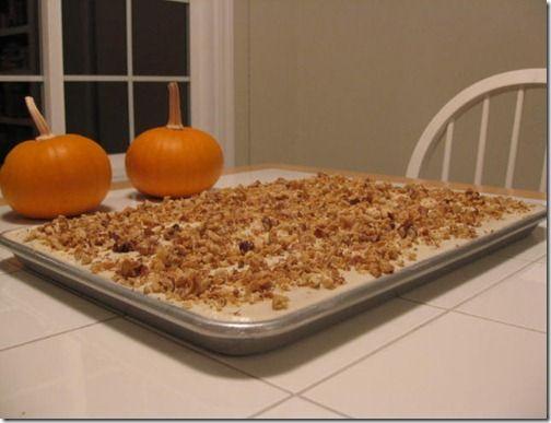 Pumpkin Bars | Food to Make | Pinterest