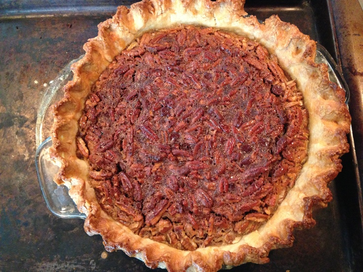 Chocolate pecan pie from real simple - thanksgiving