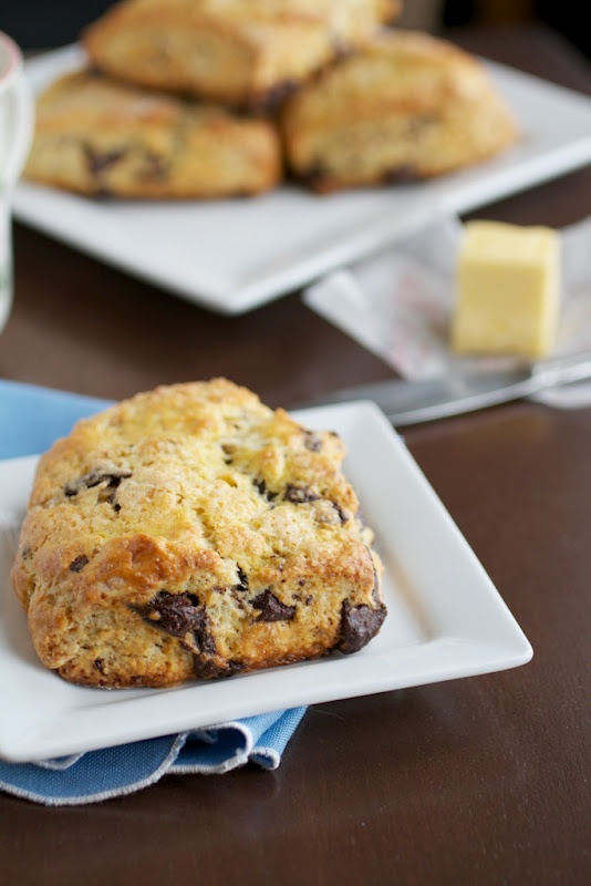 Orange and Dark Chocolate Buttermilk Scones | Naturally Ella