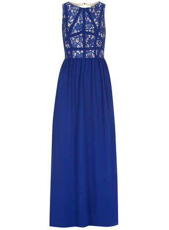 Panelled lace maxi dress dress prom pinterest