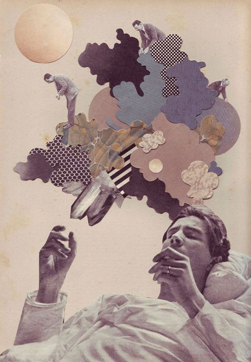 Cool collage artwork pinterest - The hideout in the woods an artists dream ...