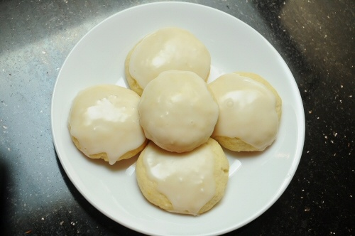 Glazed Lemon Cookies via MrsJanuary.com #recipes #cookies