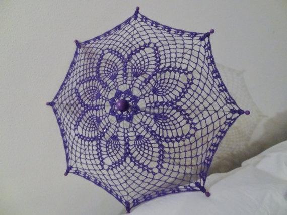 Crochet Umbrella : Crochet umbrella parasol. OMG!!!! I WANT ONE!
