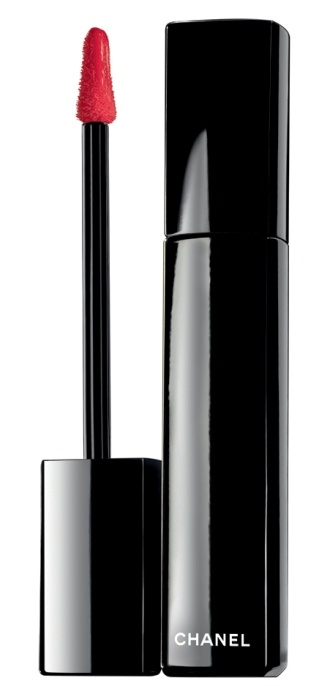 Chanel Rouge Allure lip gloss in 60. My favorite way to wear red lips.
