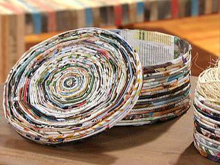 Manualidades y Artesanías | Caja con revistas | Utilisima.com