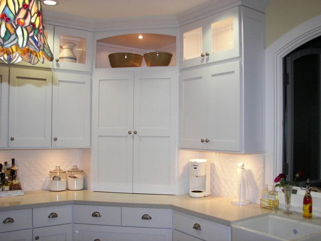Awesomeq kitchen storage ideas for the home pinterest for Appliance garage kitchen cabinets