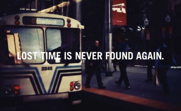 Lost Time Is Never Found Again #quotes #inspirational