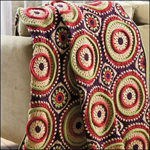 Ringtoss Afghan ~ crochet pattern available via ravelry {crochet world magazine}
