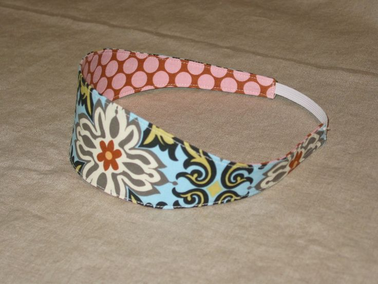 Headband Tutorial, there is a wide and narrow band version...maybe these will fit better than the store bought bands.