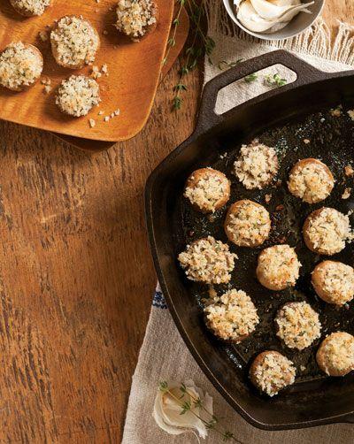 Parmesan-Panko Stuffed Mushrooms Recipe - Taste of the South