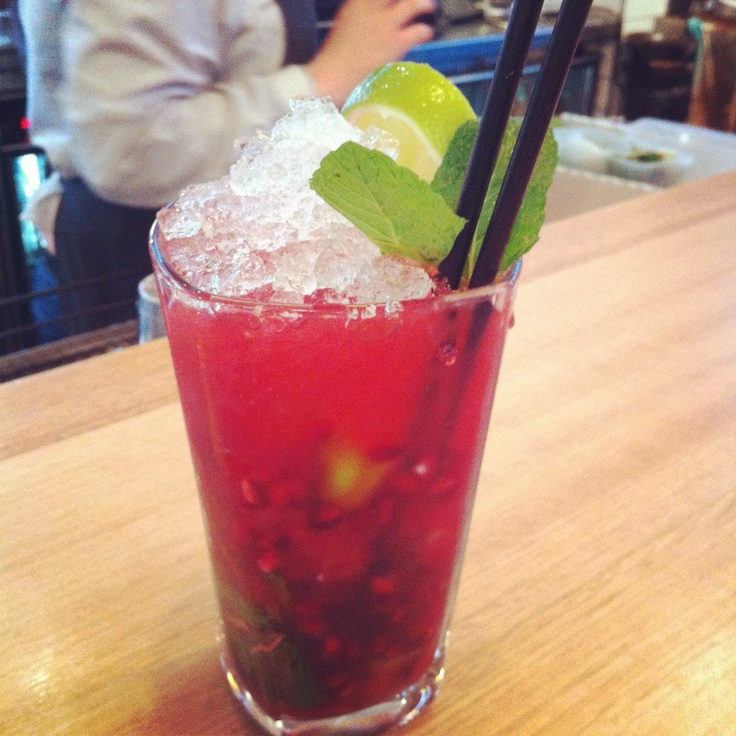 Pomegranate mojito | Gin & More... | Pinterest