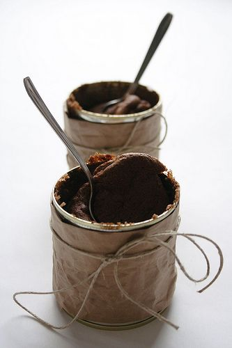 Dark Chocolate Soufflés | Chocolaty Goodness | Pinterest