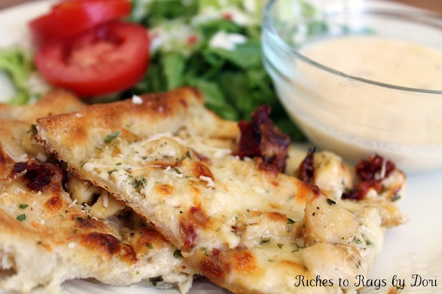 Chicken Alfredo Ranch Pizza