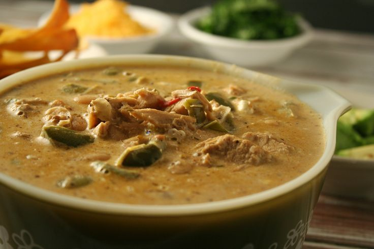 White Turkey Chili with just the right amount of heat to spice it up ...