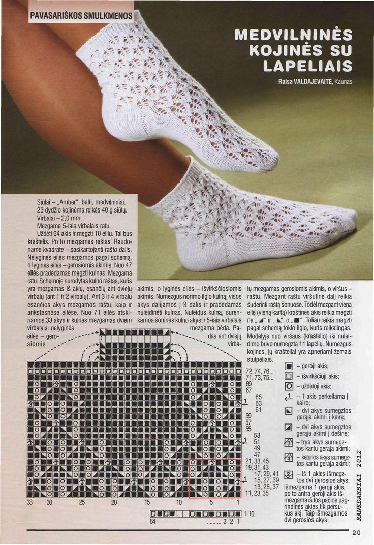 Спицы вязание следок носок 281