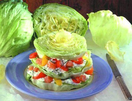 Lettuce, salmon, lemon dressing | Lunch Lady | Pinterest