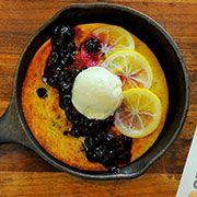 Lemon blueberry cornmeal griddle cakeshttp://californiabountiful.com ...