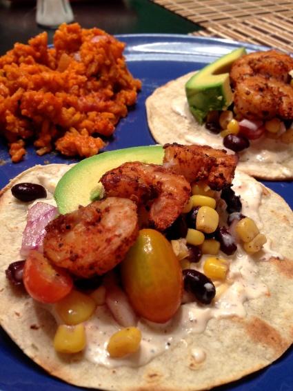 grilled blackened shrimp tostadas! | recipes | Pinterest