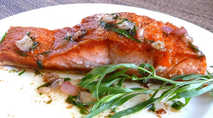 ... this one. Barbecued Salmon in Foil with Tarragon, Chives, and Vermouth