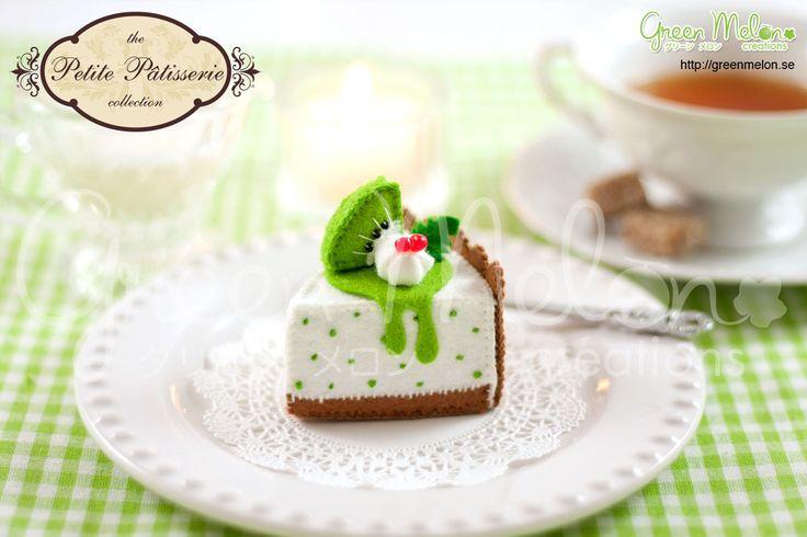 Kiwi Cheesecake felt food craft kit diy by GreenMelonCreations, $9.95