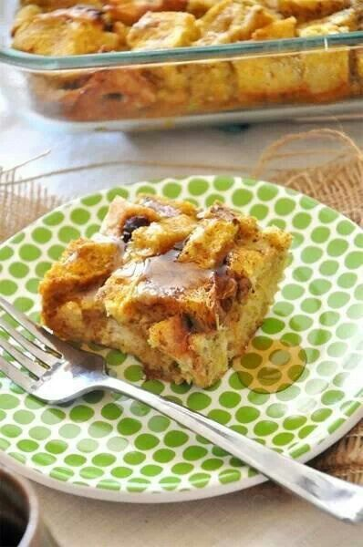 pumpkin pie french toast bake | Food | Pinterest