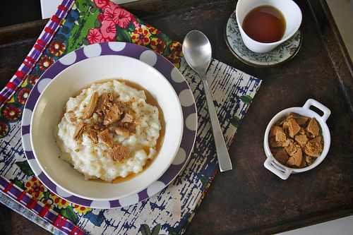 Vanilla ginger rice pudding? Might have to try this...