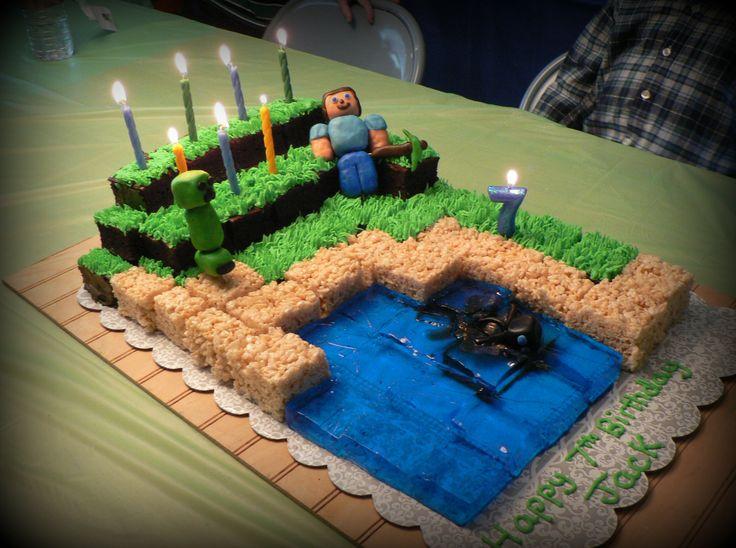 minecraft cake ideas on pinterest 12547 minecraft cake bir. Black Bedroom Furniture Sets. Home Design Ideas