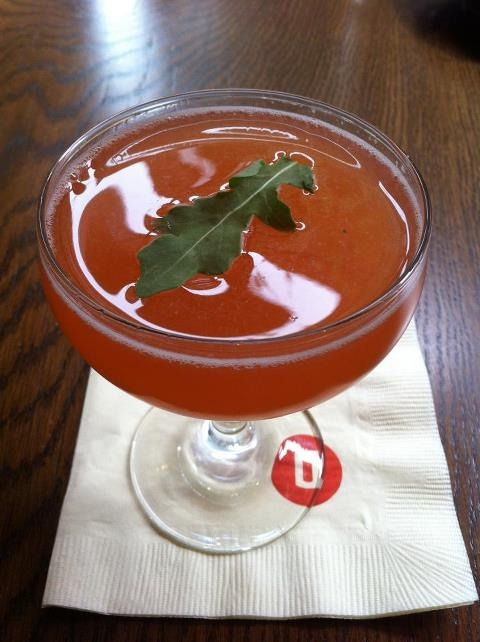 Never too early to think about happy hour a cocktail with house made