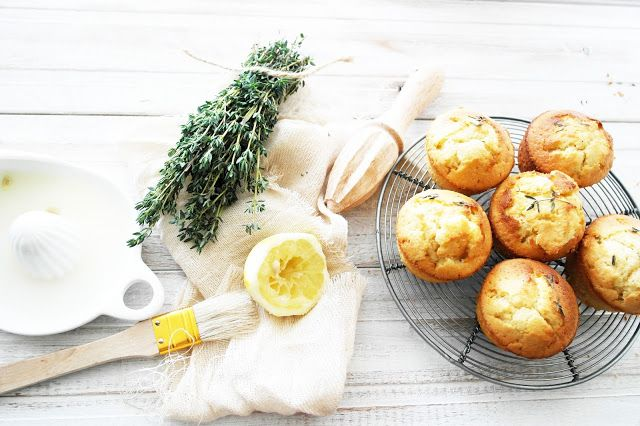 lemon thyme muffins | Cupcakes and Cake-Pops