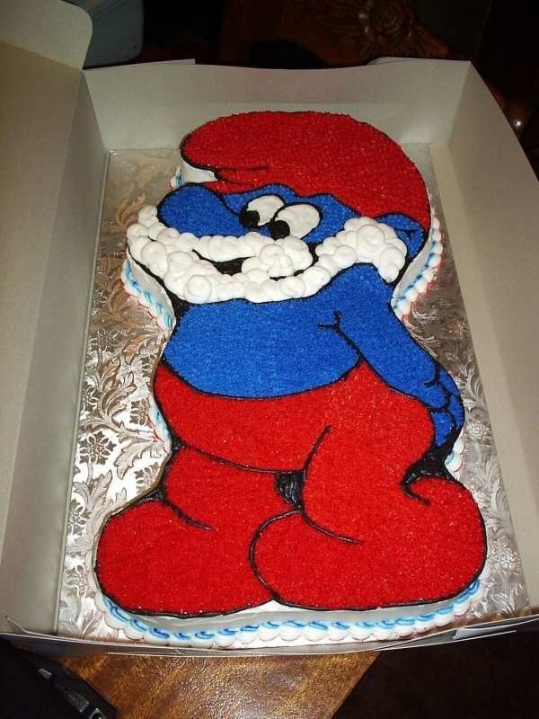 Images Of Papa Birthday Cake : Papa smurf cake! Great for Father s day cakes Pinterest