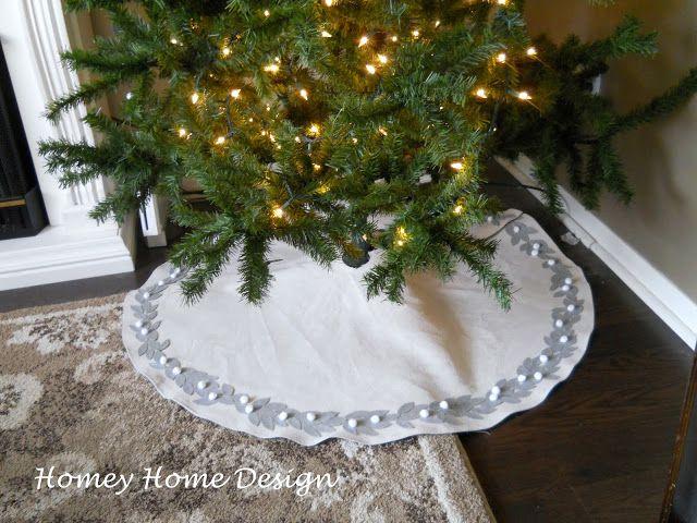 Christmas tree skirt tutorial diy holiday ideas pinterest