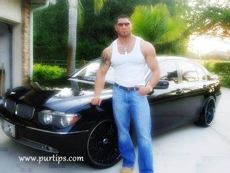 photo of Dave Bautista BMW 7 - car