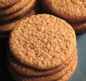 Good Luck Sesame Benne Wafers- crunchy sweet sesame cookies