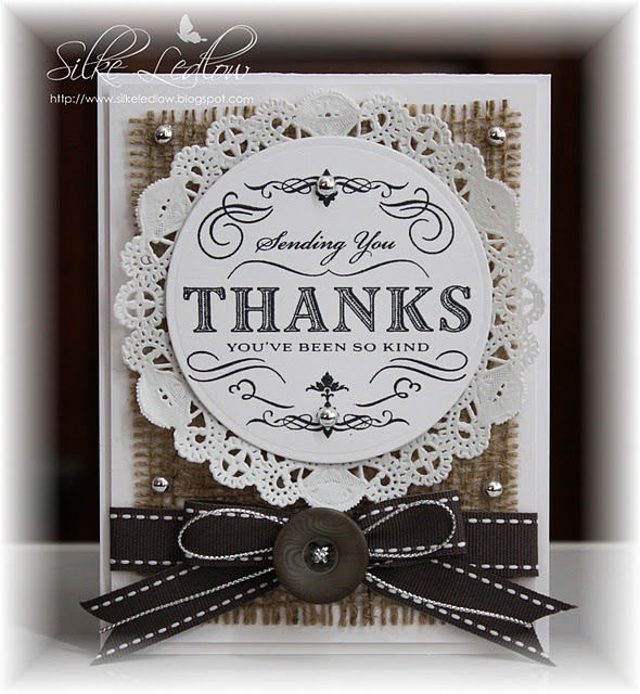 Like the doily behind the thank you stamp